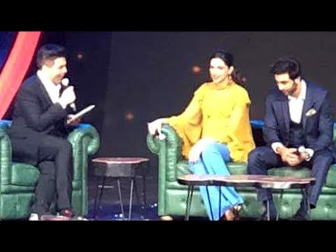 Deepika Padukone Ranbir Kapoor FUN CHAT With Karan Johar At Asian Paints Events