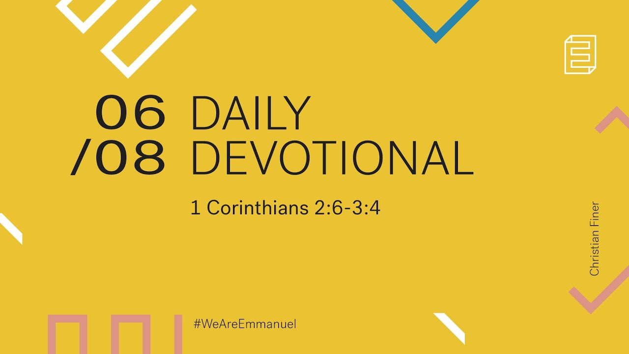 Daily Devotional with Christian Finer //  1 Corinthians 2:6-11 Cover Image