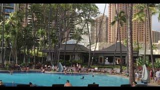 Hilton Hawaiian Village, Lagoon Tower Room, Breakfast Buffet, and Pool