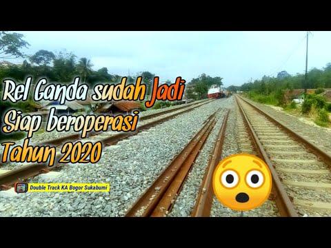 MANTAAAP!!!!, REL GANDA SUDAH JADI | Double Track Kereta Api Bogor-Sukabumi