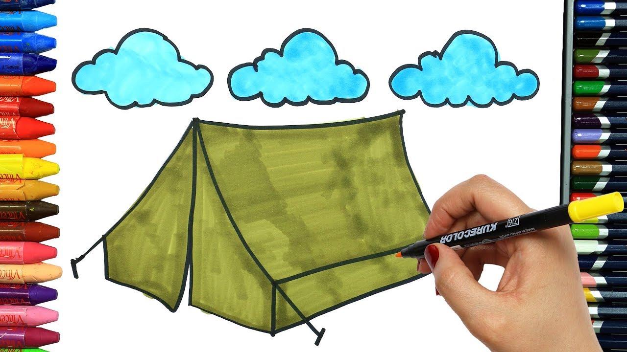 çadır Nasıl çizilir çocuklar Için Eğlenceli Boyama Boya Boya