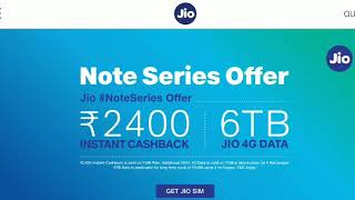 Jio redmi note 7/note 7 pro offer T&C apply
