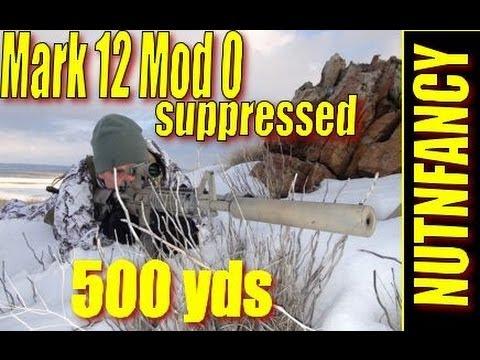 Mark 12 Mod 0, ~500 yds, suppressed