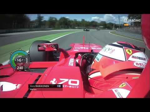 F1 2017 Kimi Raikkonen Italy - 20 Minutes Pure Race Onboard | With  Telemetry - YouTube