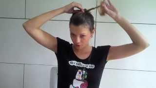 прическа на каждый день из 2-х пучков своими руками, 2 buns hair tutorial