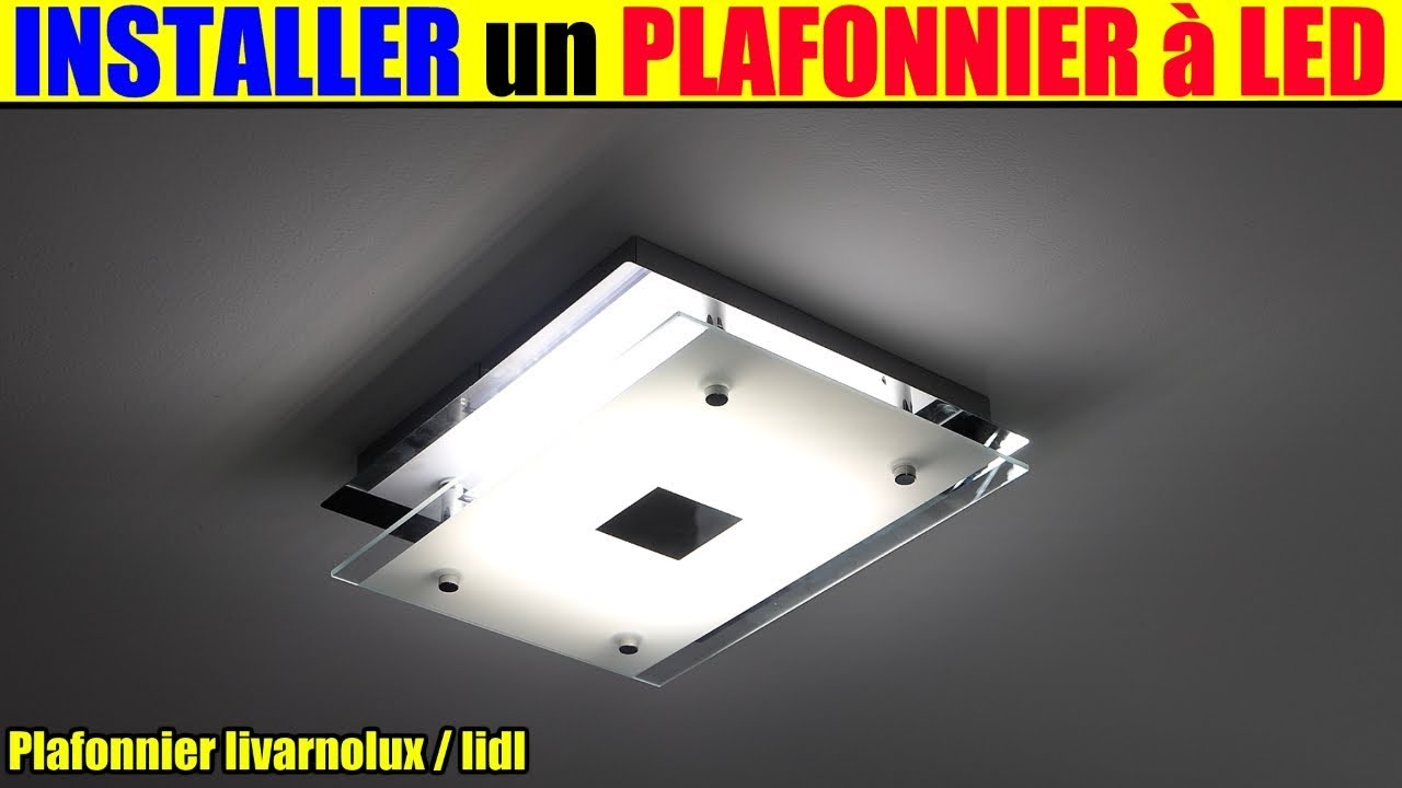 installer un plafonnier led lidl livarnolux sur douille dcl remplacer une suspension youtube. Black Bedroom Furniture Sets. Home Design Ideas