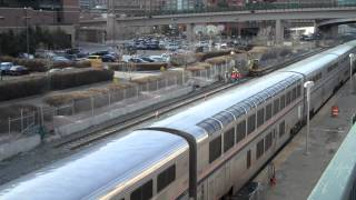 Amtrak California Zephyrs departing Denver, CO in Jan 2014