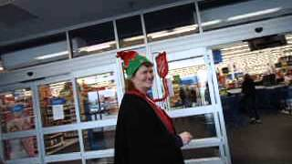 funny dancing christmas tunes hat walmart salvation army singing kettle lady 6 dec 2013 fort erie