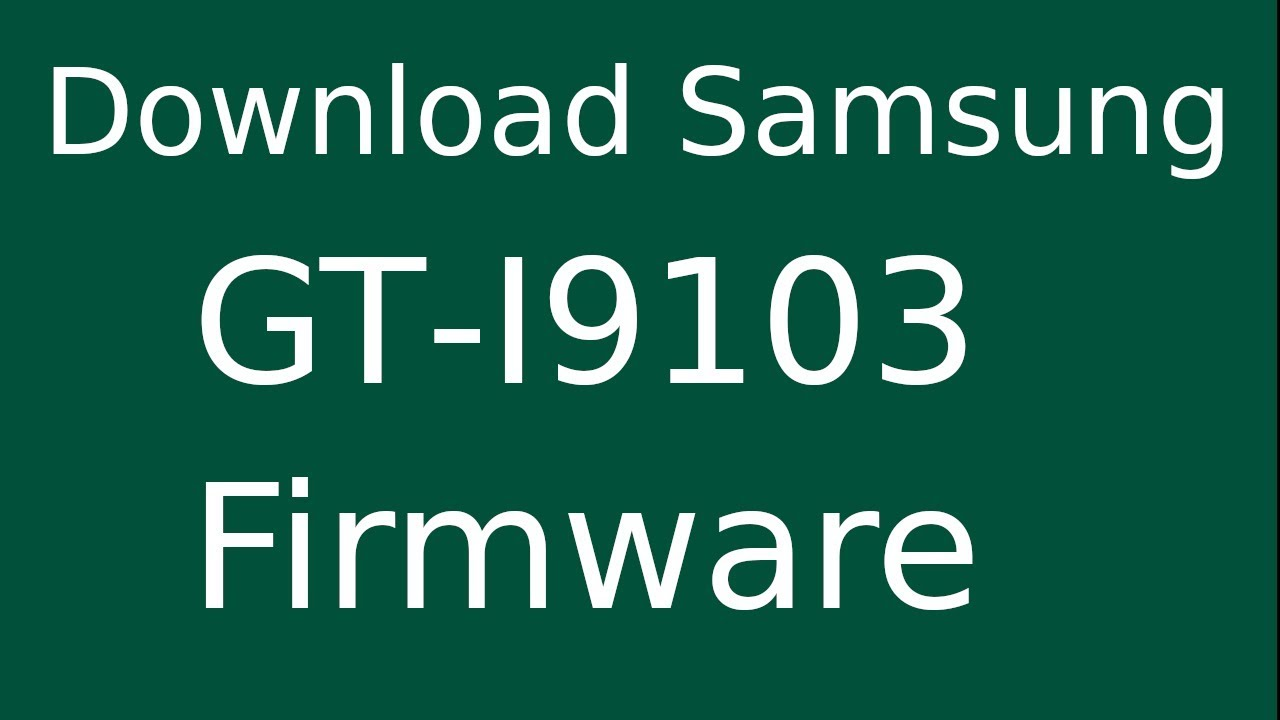 How To Download Samsung Galaxy R GT-I9103 Stock Firmware (Flash File
