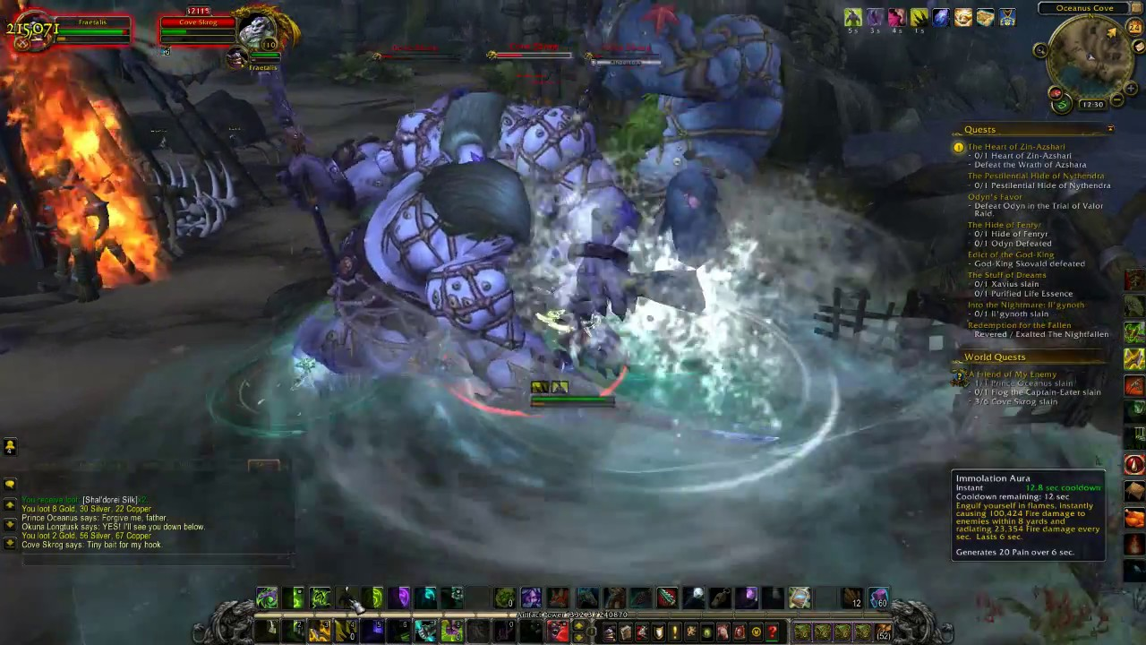 World of Warcraft A Friend of My Enemy Azsuna Legion World Quest Guide