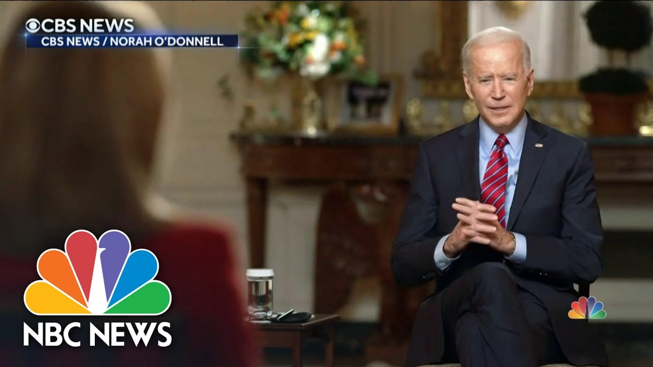 Biden Gives First TV Interview As President | NBC Nightly News