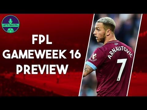 MY FPL TEAM GAMEWEEK 16 | WHO TO SELL ARNAUTOVIC FOR? | Fantasy Premier League 2018/19