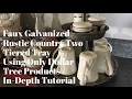 DIY Dollar Tree Galvanized Country Rustic Two Tiered Tray In Depth Tutorial February 21, 2017