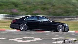 2014 W222 Mercedes-Benz S600 and S63 AMG spied on the Nürburgring