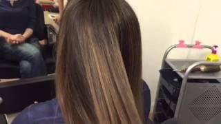 Омбре на темных волосах в салоне HairSilk