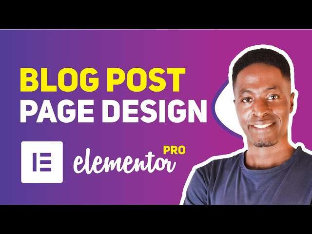 How to Create a Single Elementor Blog Post Page Template in Elementor Pro | Website Design Sec: 13