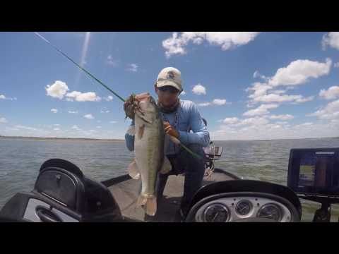 Falcon Lake Offshore Jig Fishing with Gambler Lures.