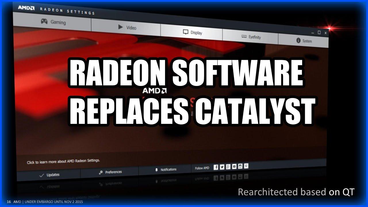 AMD Kills Catalyst for New 'Radeon Software' | GamersNexus - Gaming
