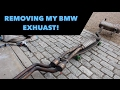 BMW Exhaust Removal // E90 328i