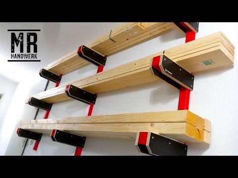 20€  Wandregal für die Werkstatt oder Garage selber bauen - Günstige Anleitung -