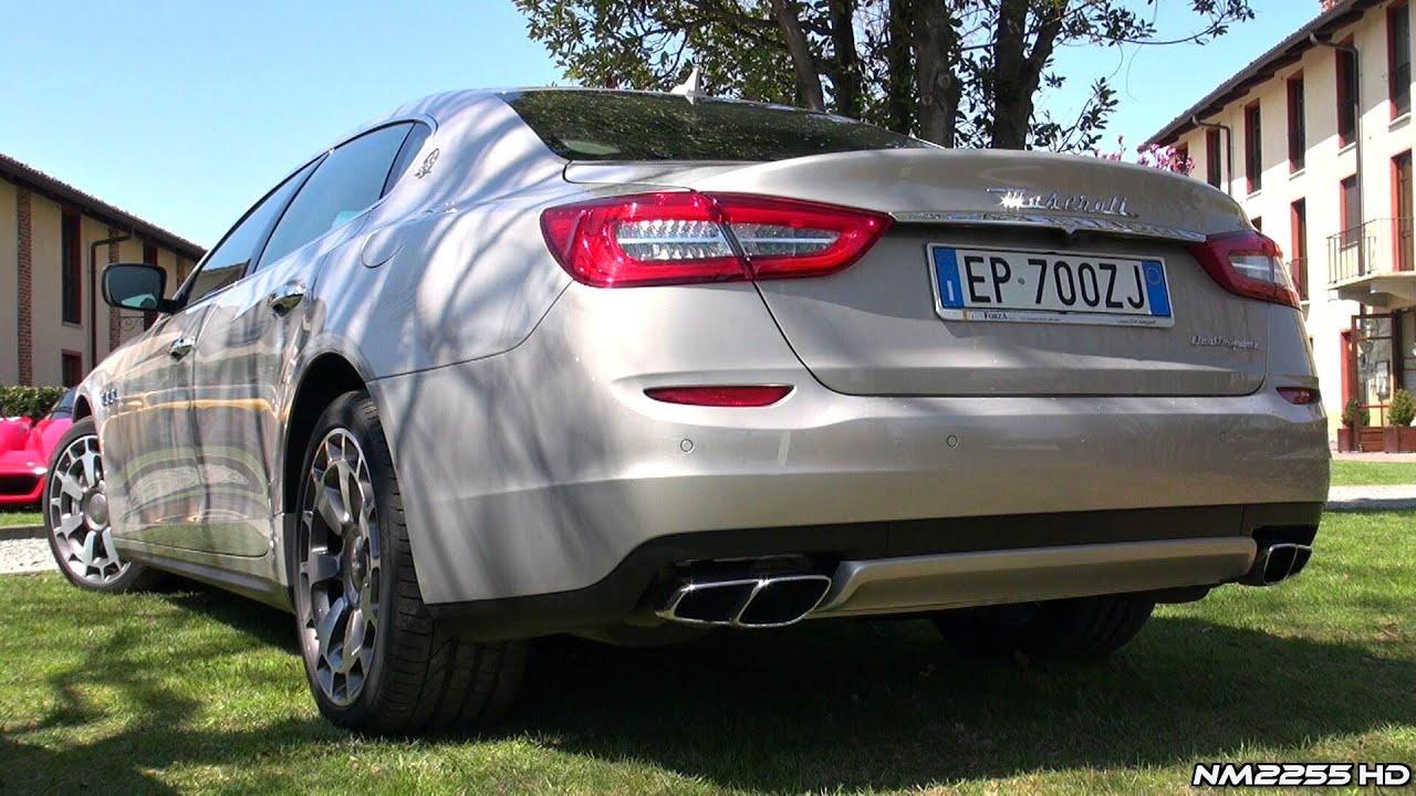 maserati quattroporte gts twin turbo v8 exhaust sound & revs - youtube
