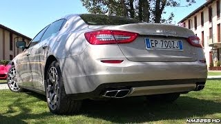 Maserati Quattroporte GTS Twin Turbo V8 Exhaust Sound & Revs