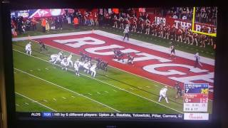 jabrill peppers makes insane punt return for touchdown but doesn t count michigan vs rutgers 2016