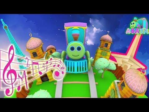 Around the World Arabic Alphabet Song Cartoon 3D Animation With Battar Hijaiyah Trains For Kids thumbnail