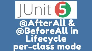 @BeforeAll and @AfterAll methods in Lifecycle per_class mode