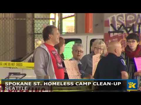 Seattle begins clearing out SODO homeless camp