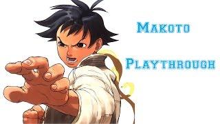 Street Fighter III: 3rd Strike - Makoto Playthrough