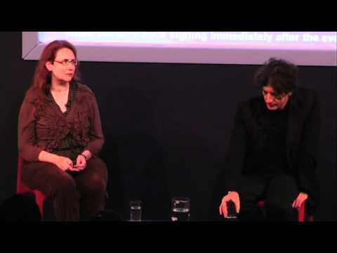 Neil Gaiman with Audrey Niffenegger at the Edinburgh International Book Festival