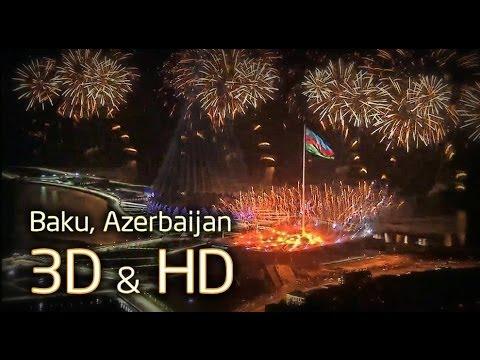 Baku, Azerbaijan - 3D & HD (1080p)