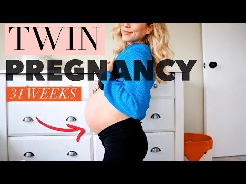 31 Weeks Pregnant with Twins | Weight Gain, Stretch Marks, Symptoms