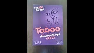 Taboo Gra Unboxing Hasbro A4626