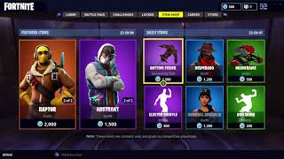 RAPTOR IS BACK IN THE FORTNITE ITEM SHOP! ABSTRAK SKIN, RENEGADE AND PICKSQUEAK PICKAXE