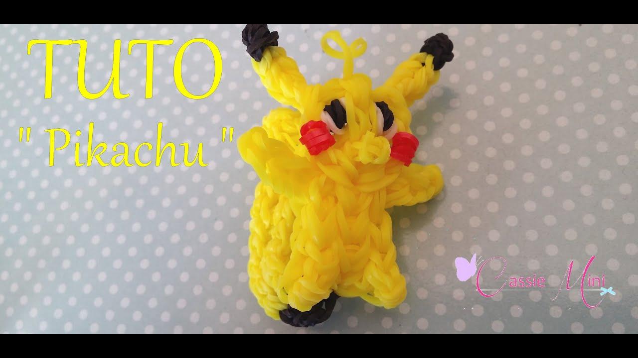 Bekannt TUTO ] pikachu en élastique rainbow loom - YouTube CZ72