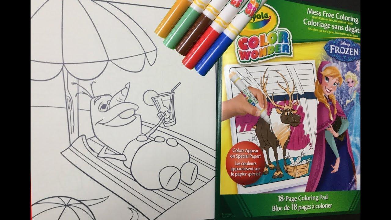 Frozen Coloring Pages Crayola : Disney frozen olaf crayola color wonder coloring pages