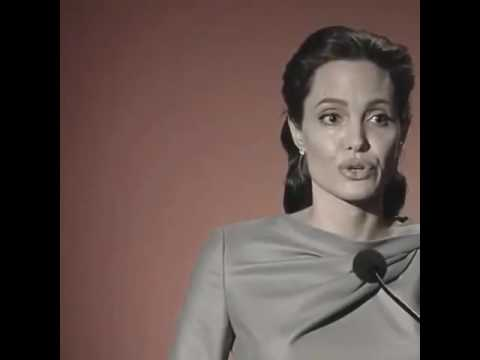 Angelina jolie muslim refugee, or a Christian refugee, or a Yazidi. I see a mother or father انجلينا