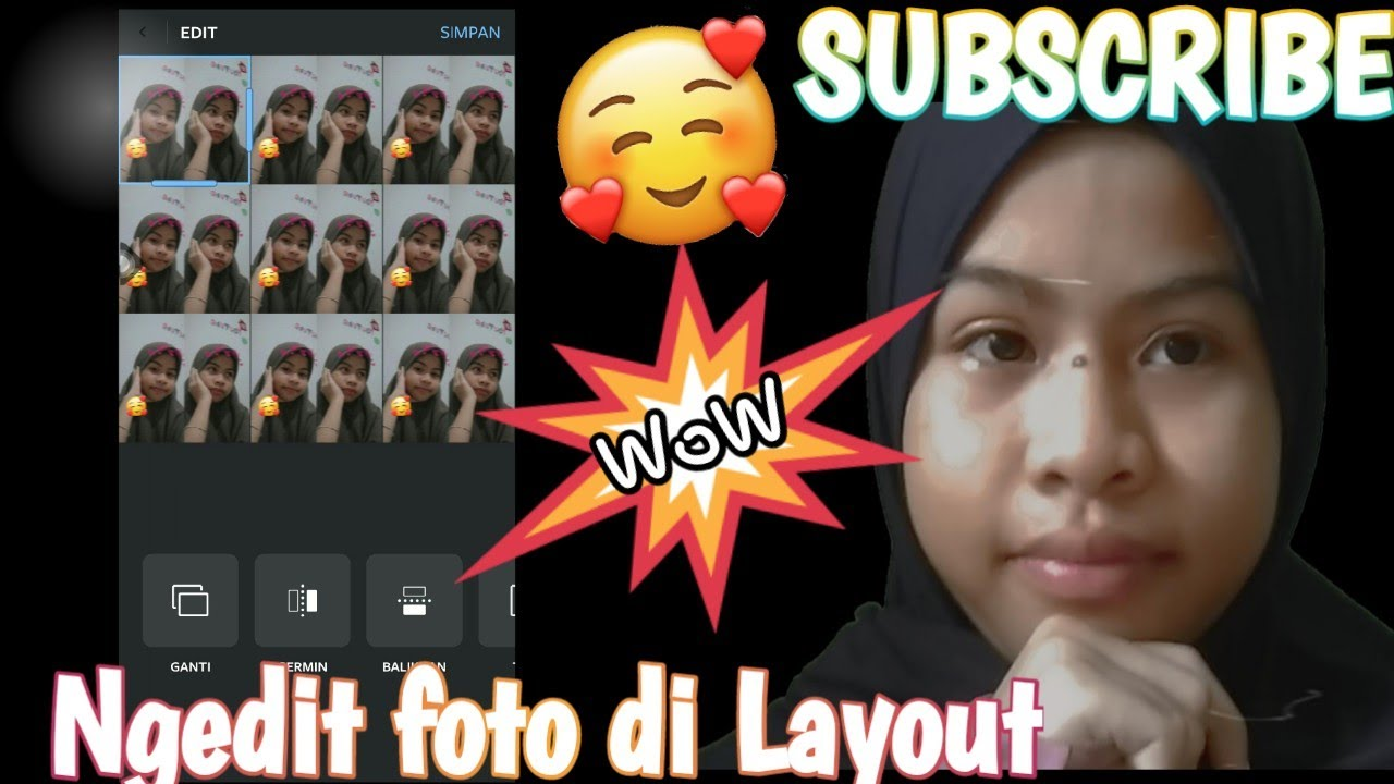 Cara ngedit foto di aplikasi Layout Editing #7 - YouTube