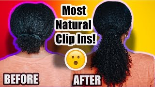 Clip Ins For Natural Hair | Better Length Afro Kinky Curly Clip Ins (3c Clip & 4a Clip Ins 16 Inch)