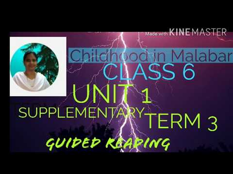 Childhood in Malabar a memoir. Guided reading class 6 unit 1 supplementary  term 3