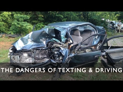 DON'T TEXT AND DRIVE! Distractions are the primary causes of car accidents. Put your cell phone away to avoid serious injury and even death.