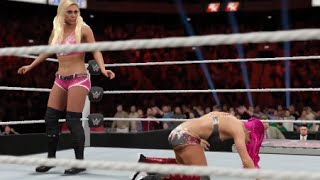 WWE 2K17 - Sasha Banks vs Charlotte Gameplay