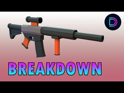 Blender Tutorial | How to Make a Low Poly Gun in Blender 2.8 | Low Poly Rifle Tutorial Breakdown