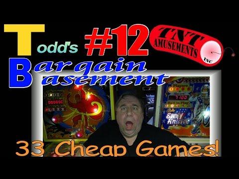 #1256 Todd's BARGAIN BASEMENT #12! 33 CHEAP Arcade Video Games! TNT Amusements