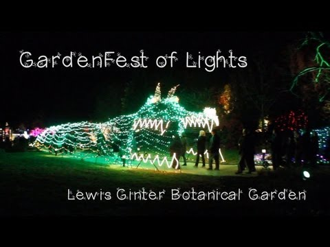 Gardenfest of lights at lewis ginter botanical garden 2012 youtube for Lewis ginter botanical gardens christmas
