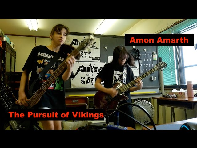 The Pursuit of Vikings - Amon Amarth guitar + bass cover