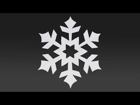 Paper EASY SNOWFLAKE tutorial - Paper SIMPLE SNOWFLAKES - DIY thumbnail