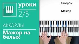 Аккорды на пианино (2/5) - Мажор на белых клавишах (its-easy.biz)
